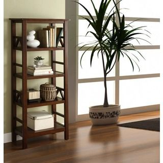 Shop for Linon Tiziano 4 Shelf Bookcase Aged Cherry. Get free delivery at Overstock.com - Your Online Furniture Shop! Get 5% in rewards with Club O!