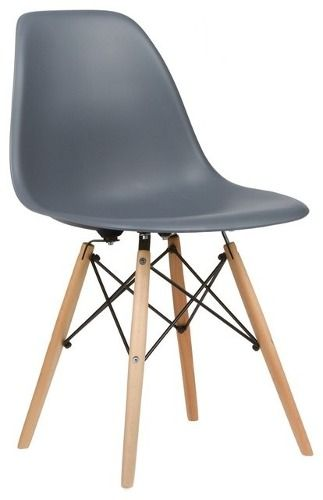 Cadeira Charles Eames Wood - Design - Cinza - Dsw - R$ 225,00