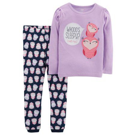 37b5967e2 Child of Mine by Carter's Toddler Girl Long Sleeve Shirt & Pants Pajamas,  2pc Set, Size: 4 Years, Purple