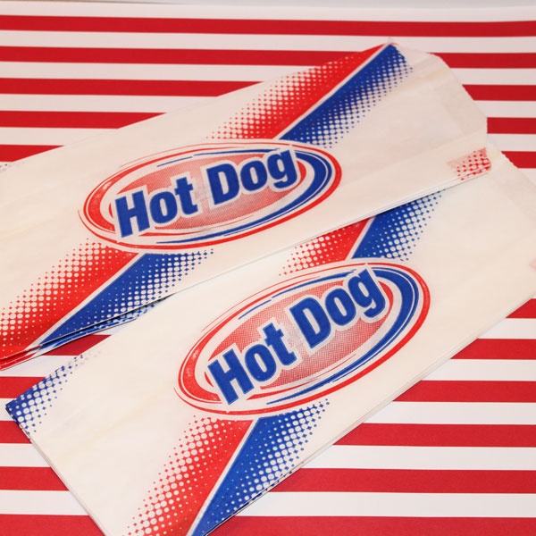 Retro style Hot Dog Bags