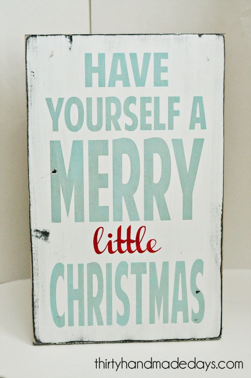 Merry little christmas sign. ♥