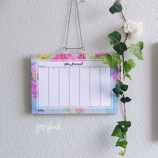 Planes semanales para organizar todas tus actividades. Vive una vida hermosa 😊