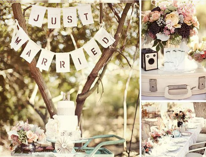 """Casamento no estilo """"vintage"""""""