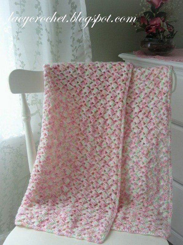 Summer Baby Blanket in Variegated Yarn.