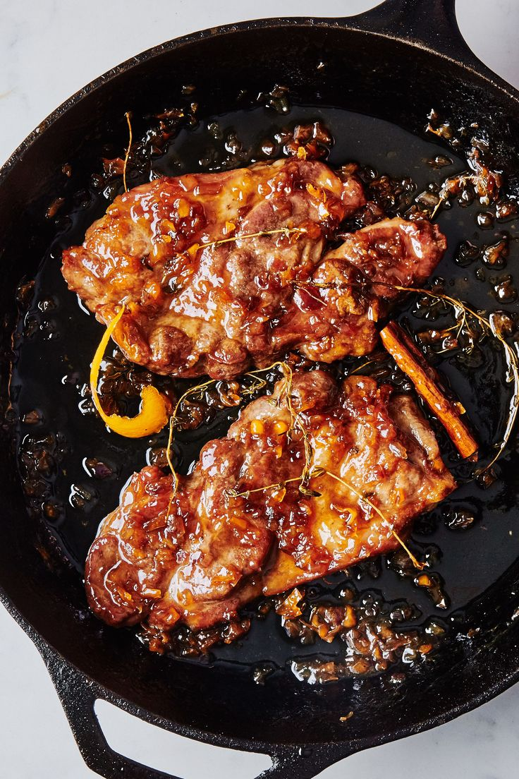 Maple-Habanero Glazed Pork Steaks Recipe | Bon Appetit