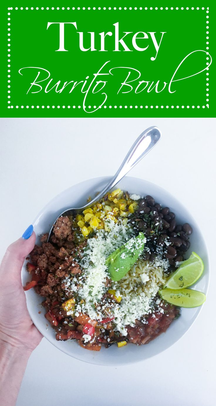 Make your own burrito bowl with simple and healthy ingredients!