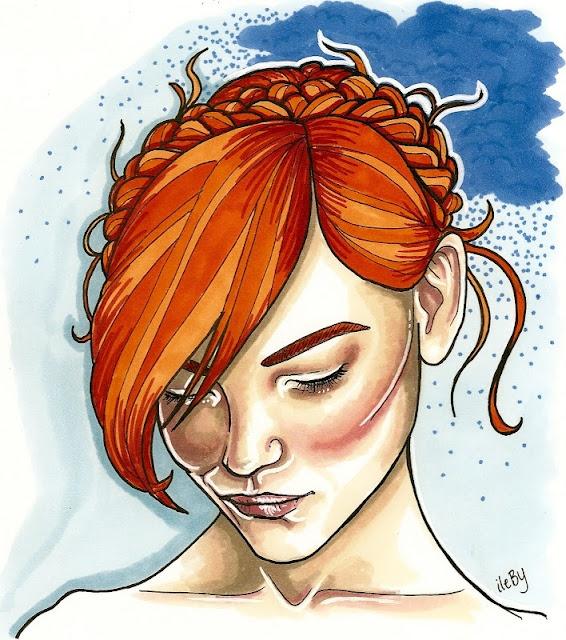 Anna Ritar. Love the white highlights on the cheekbone!