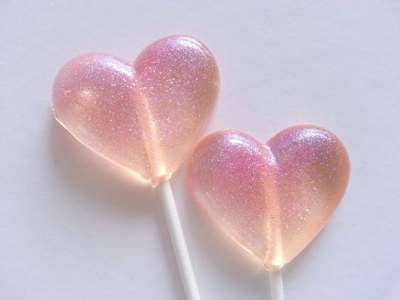 Sparkly Heart Lollipops ♡ Get them on etsy
