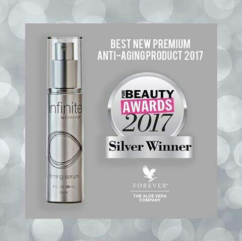 Do you know our Beauty award winner?Infinite Anti Aging products from Forever https://shop.justlivingbetter.com #antiaging #aging #stayyoung #serum #forever #foreverliving #aloe #flp