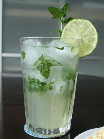 Mojito/Mint Simple Syrup/This is for the Surfas drink/watermelon juice Mojito Syrup and sparking water.. http://www.copywriterskitchen.com/2010/08/13/classic-mojito-with-mint-simple-syrup-recipe/