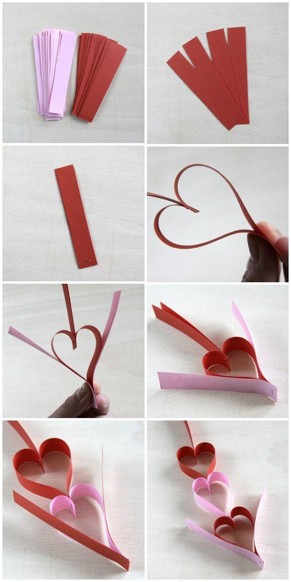 DIY hearts garland