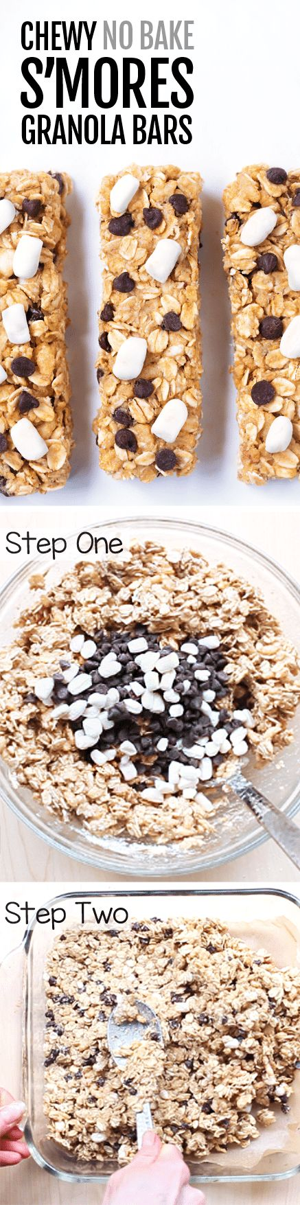Homemade CHEWY S'mores Granola Bars!