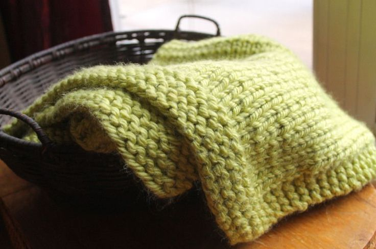Simple Square Knitted Baby Blanket Pattern | Chunky ...