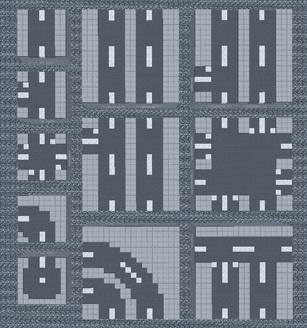 The road tileset overview – #overview #png #road #…