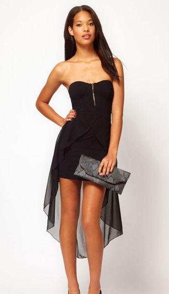 Rochie eleganta cu fusta asimetrica si corset