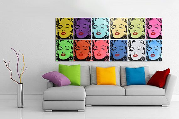 CANVAS Print  Marilyn MONROE  Stretched & Ready To Hang