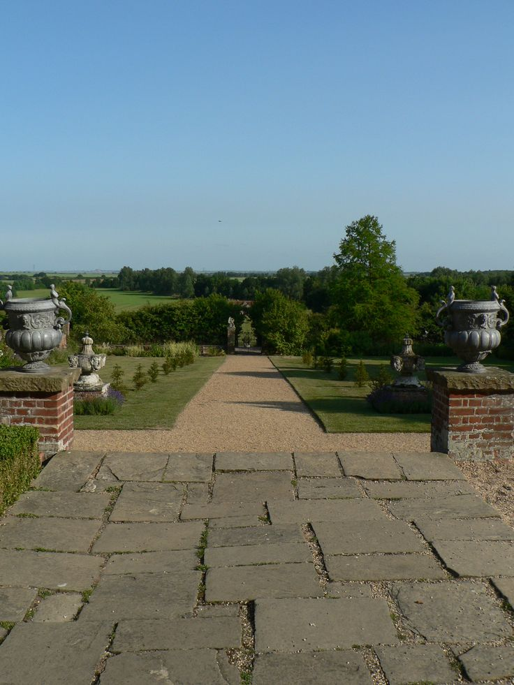 The beautiful Layer Marney Tower garden where we had our Lepra reception with Victoria Hislop
