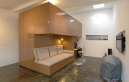 Arkitektene har tenkt smart for å skape god plass på få kvadratmetre.