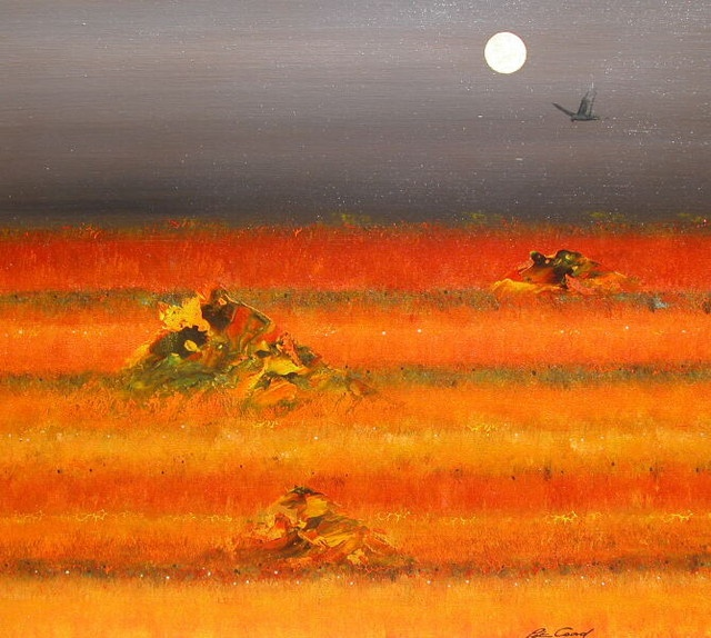 Peter Coad, Title: Monsoon 1 90x100 cm Mixed Media on Canvas