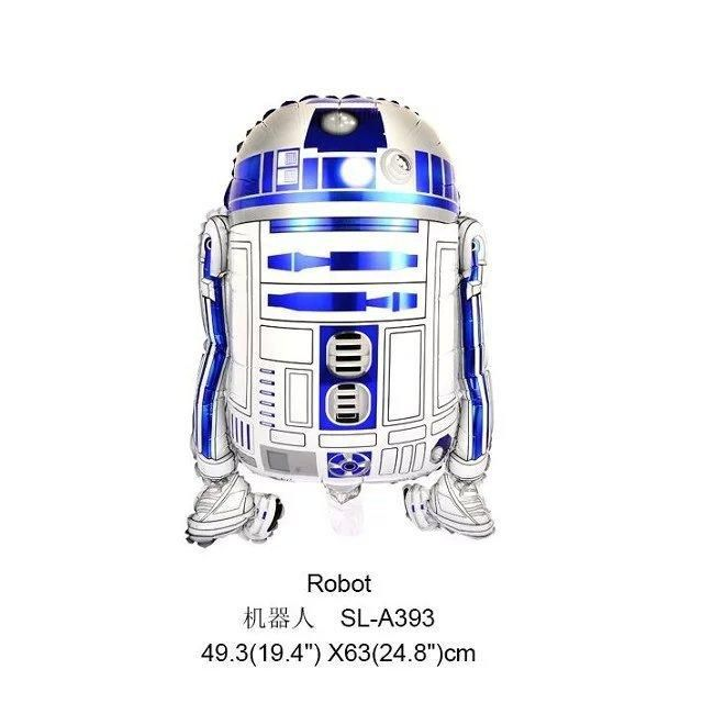 [Visit to Buy] Free shipping Star Wars Globos R2-D2 Foil Balloons Party Supplies Helium Balloons Kids Toys Gifts #Advertisement