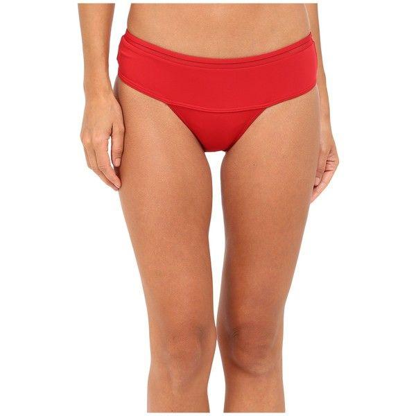La Perla Kosmos High Waisted Bottom (Red) Women's Swimwear ($188) ❤ liked on Polyvore featuring swimwear, bikinis, retro bikini, retro swimwear, bikini swimwear, high waisted swimwear and high rise bikini