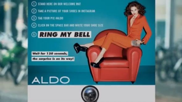 Aldo: Ring My Bell Instagram Stunt