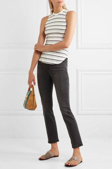 FRAME - Le High Straight-leg Jeans - Gray - 30