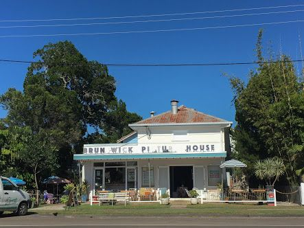 Recently repurposed old picture house Brunswick Heads, now a cafe and entertainment space.