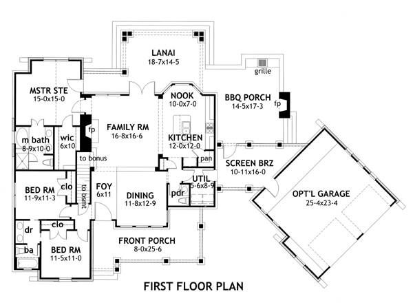This is it! This is how I want to build our house.  First Floor Plan image of Vida de la Confianza