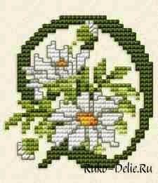 Χειροτεχνήματα: Το αλφάβητο με λουλούδια σταυροβελονιά / Floral alphabet cross stitch patterns