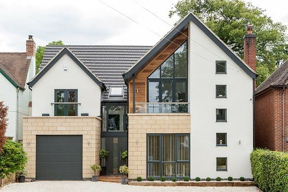 Contemporary New Home in Leicester . . . . . see more at http://www.pd-architecture.co.uk/new-builds.shtml