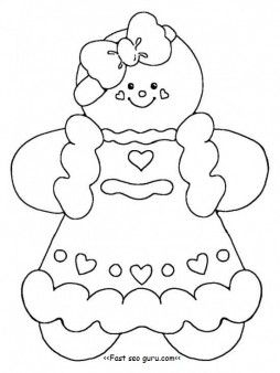 Printable Gingerbread Girl Coloring Pages For Kids Print
