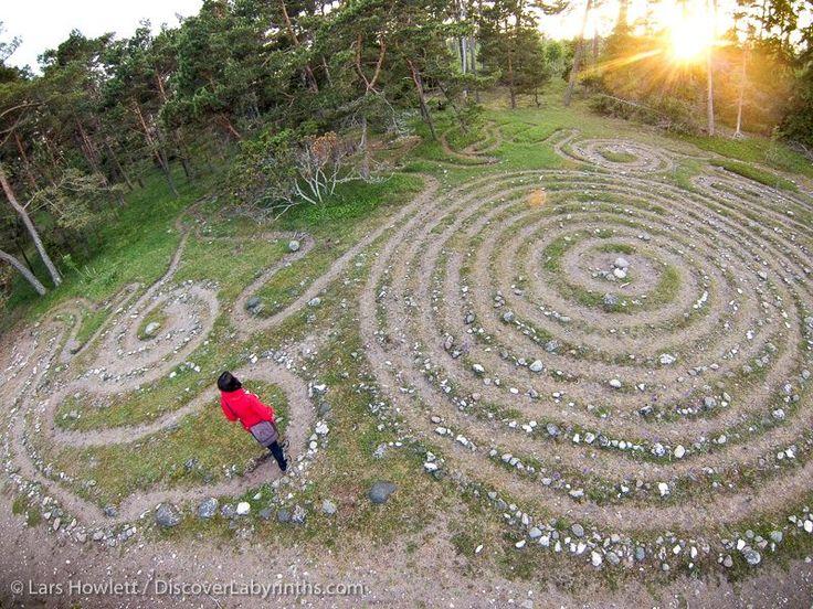 Labyrinth - Isle of Gotland in the Baltic Sea near Ljugarn, Sweden. IMage by Lars Howlett