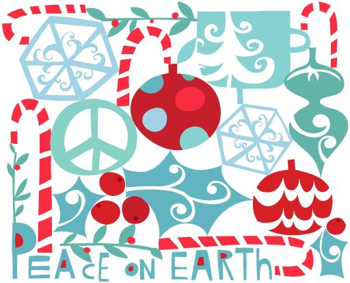 Peace on Earth  Aqua ChristmasChristmas DesignModern ChristmasChristmas  ColorsChristmas ...