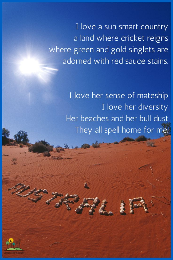 Australia Day Poem (apologies to Dorothea McKellar).