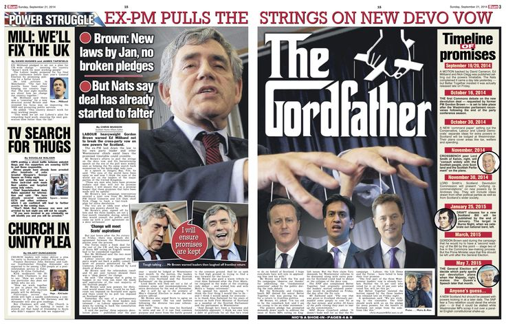 Scottish Sun on Sunday Pg2-3 Three Gordon Brown Pix Katielee Arrowsmith