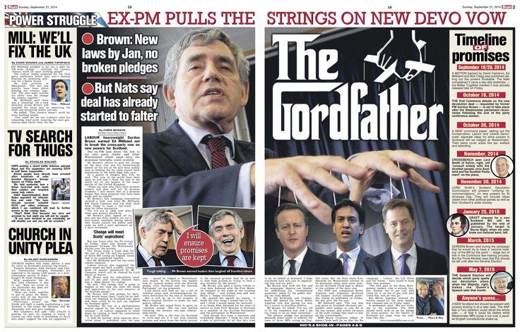 Scottish Sun on Sunday Pg2-3 Three Gordon Brown Pix Katielee Arrowsmith