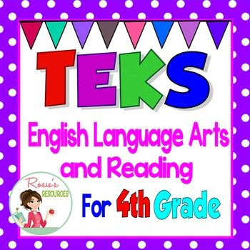 "Texas TEKS Learning Target ""I Can"" Statements for Fourth Grade Language Arts and ReadingThese ""I Can"" statements have been carefullly re-worded from the Texas TEKS in kid-friendly language, yet they maintain the academic vocabulary that students need to be successful."