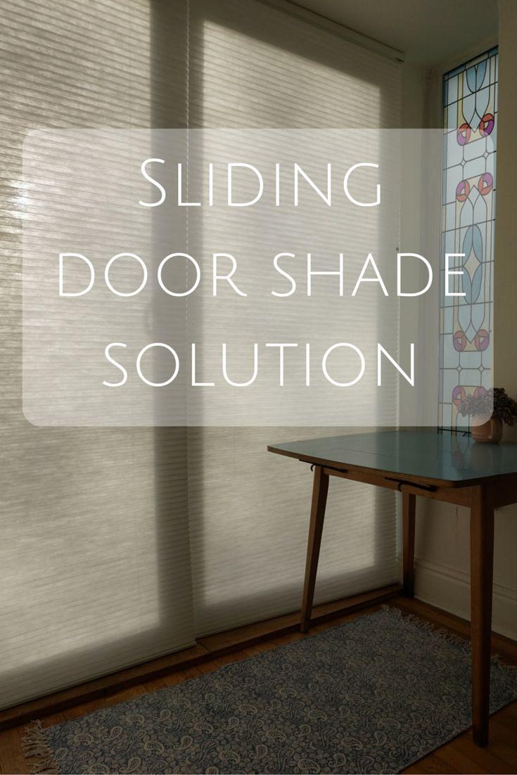 17 Best Ideas About Sliding Door Shades On Pinterest Diy