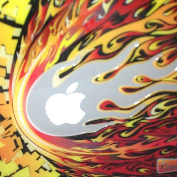 #Bash Apple on fire