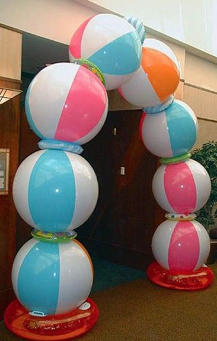 chapter idea file ~ create a beach ball arch for bid day instead of balloons!
