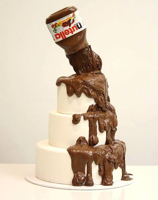 The Pouring Nutella Cake