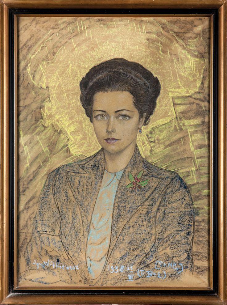 Stanisław Ignacy Witkiewicz, Portret Wilhelminy Strzeleckiej – Różyckiej, 1938 rok