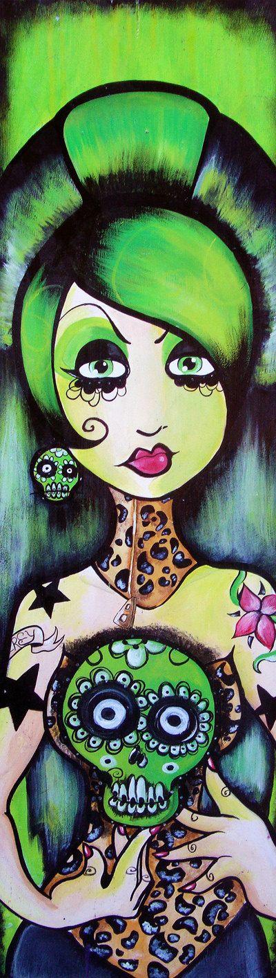 Big Hair goth rockabilly tattoo pinup girl day by KreepshowArt, $185.00