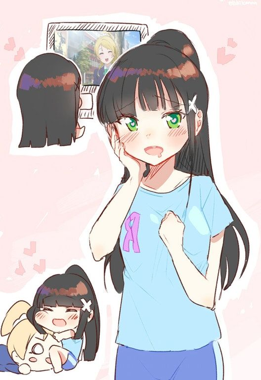 """Oh, Dia's just a carbon copy of Eli..."" : LoveLive"