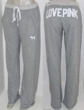 Victoria's Secret LOVE PINK gray Comfy Boyfriend Fit Sweatpants! Like the butt!