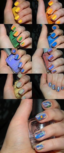 acid nailsRainbows Distressed, Nails Art, Distressed Nails, Distressed Rainbows, Awesome Distressed, Nails Easy, Nails Polish, Beautiful Bandit, Nails Tutorials