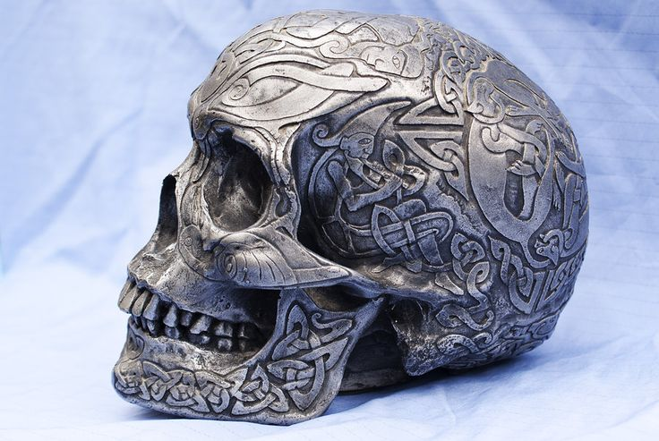 Celtic Skull Side View by wintersmagicstock.deviantart.com on @deviantART