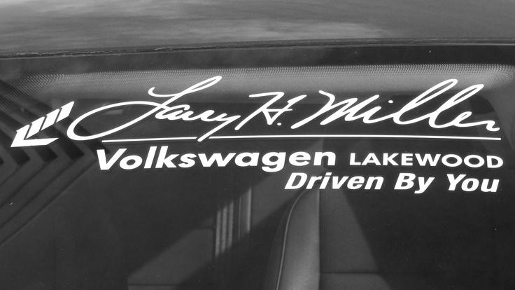 Larry H. Miller Volkswagen Lakewood sticker