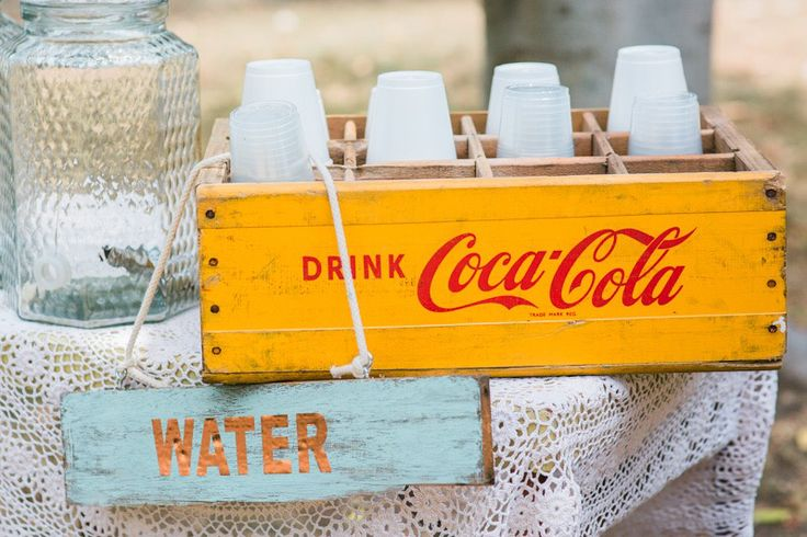 Always a sucker for a vintage Coca-Cola crate over at The Vintage Way. We used this one at a recent Sydney wedding to create a simple hydration station  .